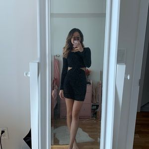 Forever 21 bodycon cutout dress